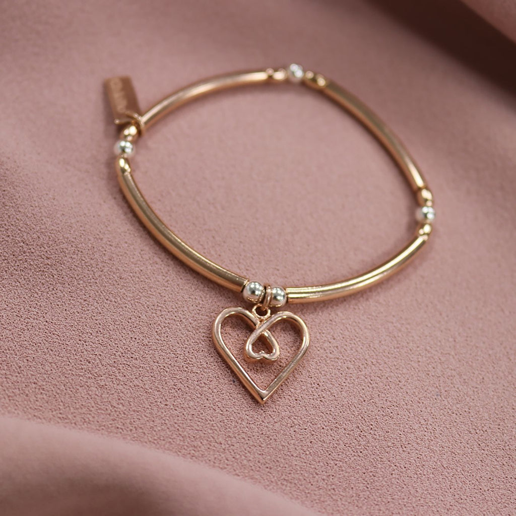 Chlobo Divine Love Heart Bracelet - Rose Gold