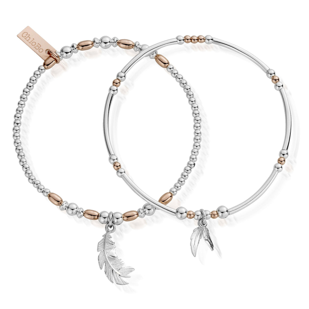 Chlobo Strength & Courage Set of 2 - Rose Gold