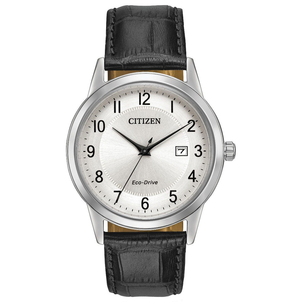 Citizen AW1231-07A Men's Black Leather Strap Buckle Watch