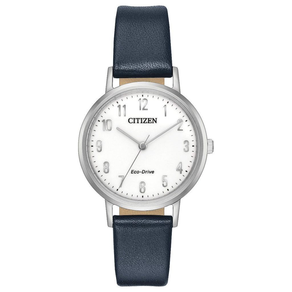 Citizen EM0570-01A Ladies Strap Blue Leather Buckle Watch