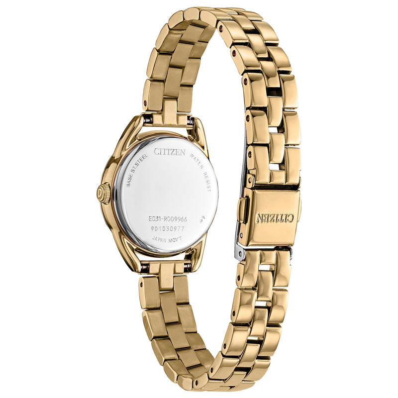 Citizen EM0682-74A Silhouette Gold Tone Stainless Steel Bracelet Watch