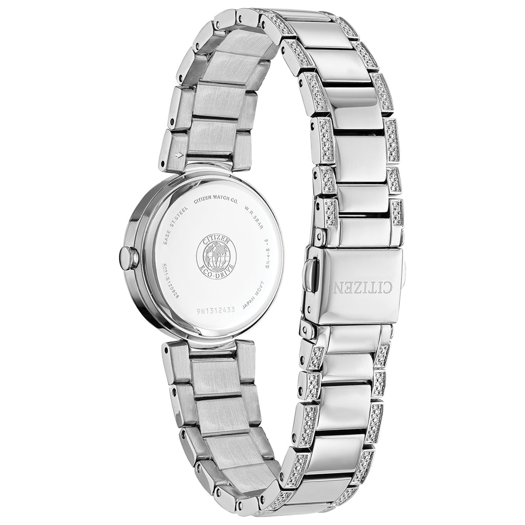 Citizen EM0840-59N Silhouette Crystal Silver Tone Stainless Steel Bracelet Watch
