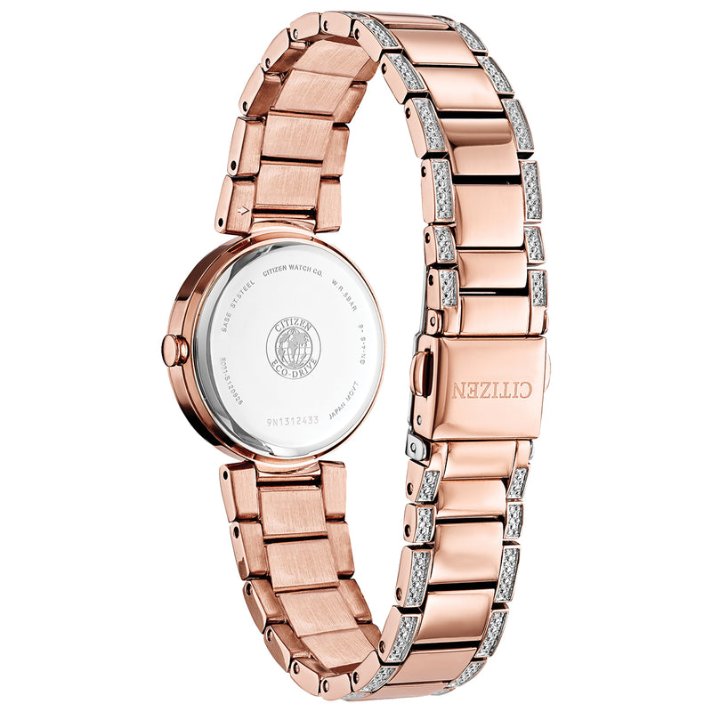 Citizen EM0843-51D Silhouette Crystal Rose Gold Tone Stainless Steel Bracelet Watch