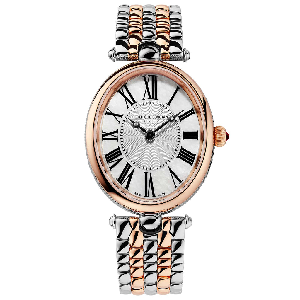 Frederique Constant FC-200MPW2V2B Classics Art Deco Oval Ladies Bracelet Watch
