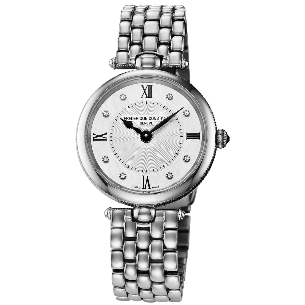 Frederique Constant FC-200MPWD2AR6B Classics Art Deco Round with Diamonds Ladies Bracelet Watch