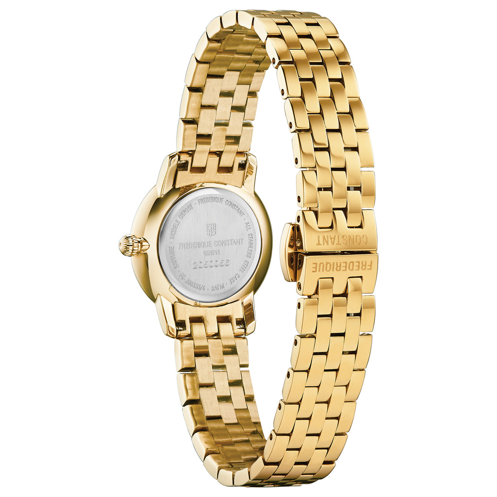 Frederique Constant FC-200STDS5B Slimline 25mm Gold Plated Ladies Bracelet Watch
