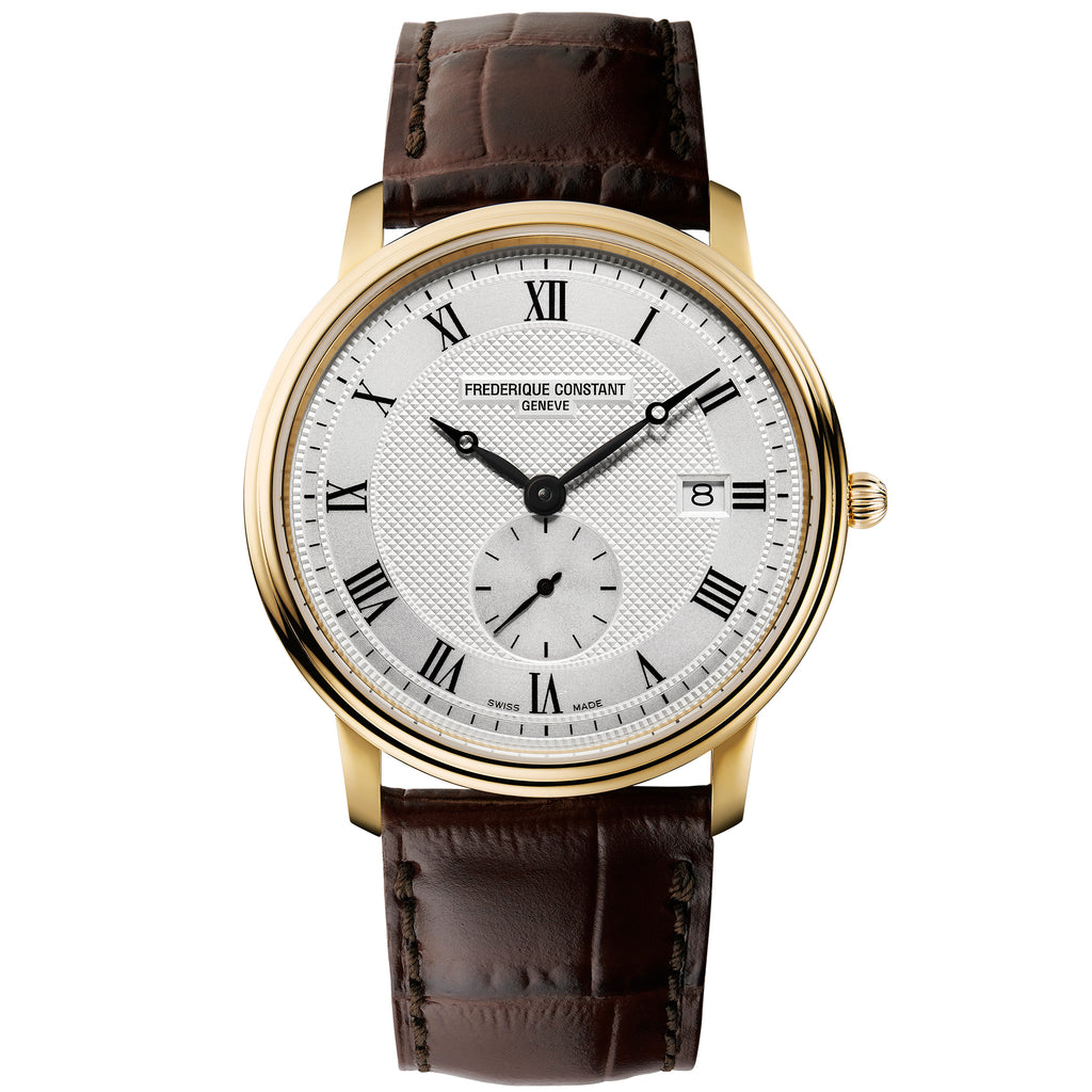 Frederique Constant FC-245M5S5 Classics Slimline Small Seconds Strap Leather Gents Watch