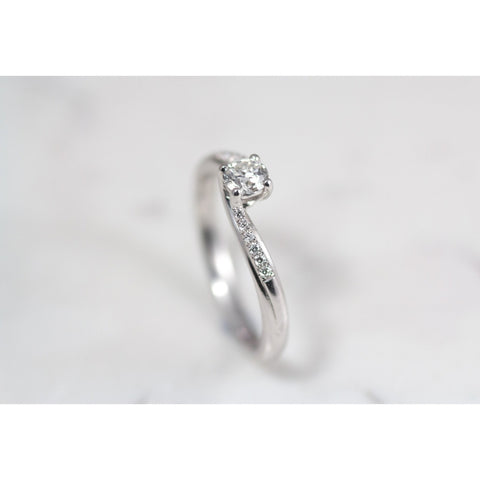 Gemma 18ct White gold twist Engagement ring