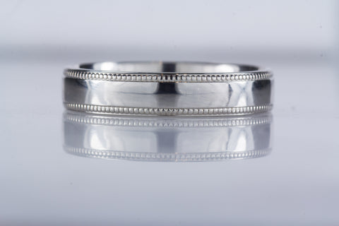 Gents two tone celtic wedding band