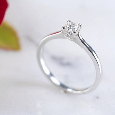 Kate 18ct white gold solitaire engagement ring