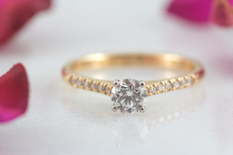 Charlotte rose gold diamond engagement ring