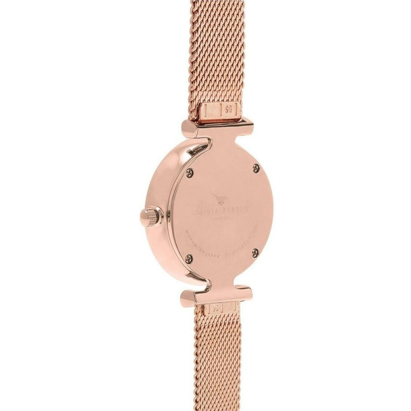 Olivia Burton OB16AM145 Queen Bee Black Dial and Rose Gold Watch