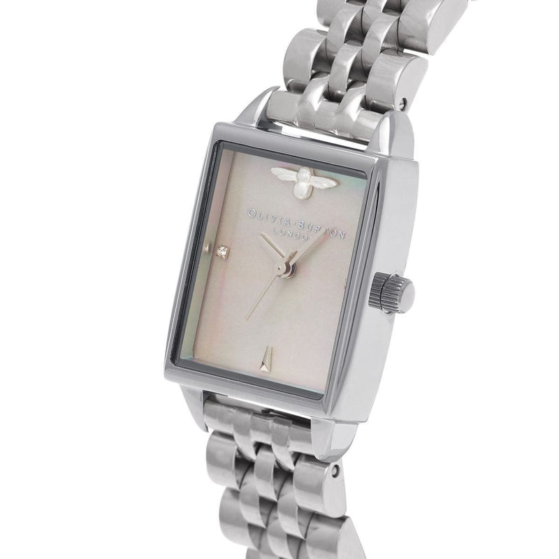 Olivia Burton OB16BH03 Bee Hive Mother Of Pearl Silver Bracelet Watch