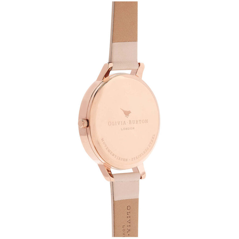 Olivia Burton OB16CS12 Marble Floral Nude Peach & Rose Gold Watch