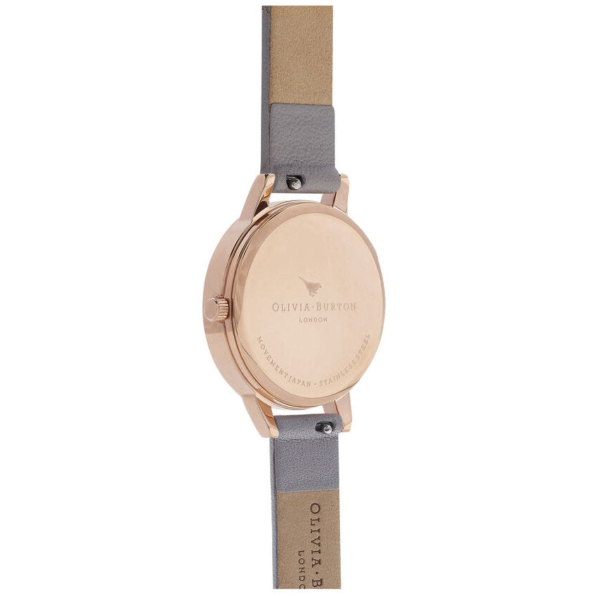 Olivia Burton OB16CS14 Marble Floral Grey Lilac & Rose Gold Watch