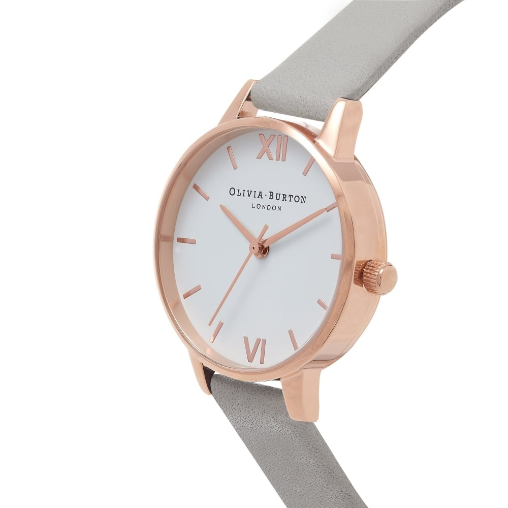 Olivia Burton OB16MDW05 White Dial Grey and Rose Gold Watch