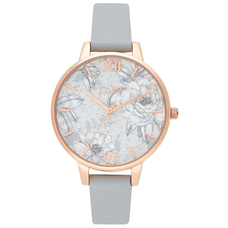Olivia Burton OB16TZ01 Terrazzo Florals Eco Light Grey & Rose Gold
