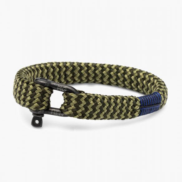 Pig and Hen Sharp Simon Army Reed Green/Black Men's Bracelet
