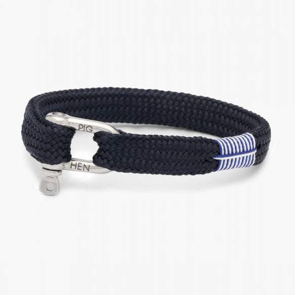 Pig And Hen Sharp Simon Navy/Silver Men's Bracelet