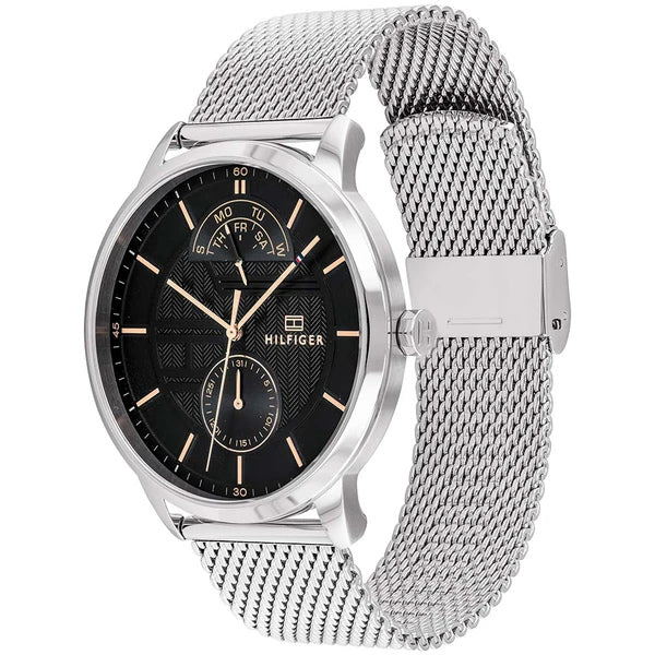 Tommy Hilfiger 1791610 Multi-function Silver Mesh Watch