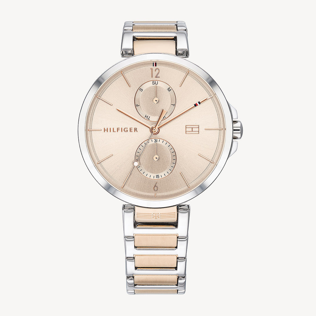 Tommy Hilfiger Dress Watch With Carnation Gold Dial