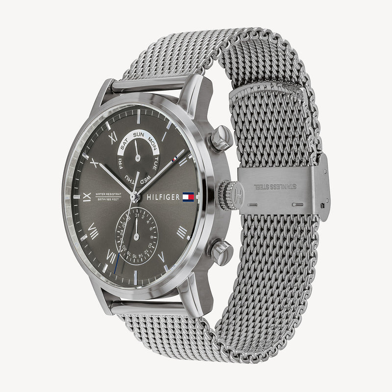 Tommy Hilfiger Sport Watch With Mesh Bracelet - Grey/Silver