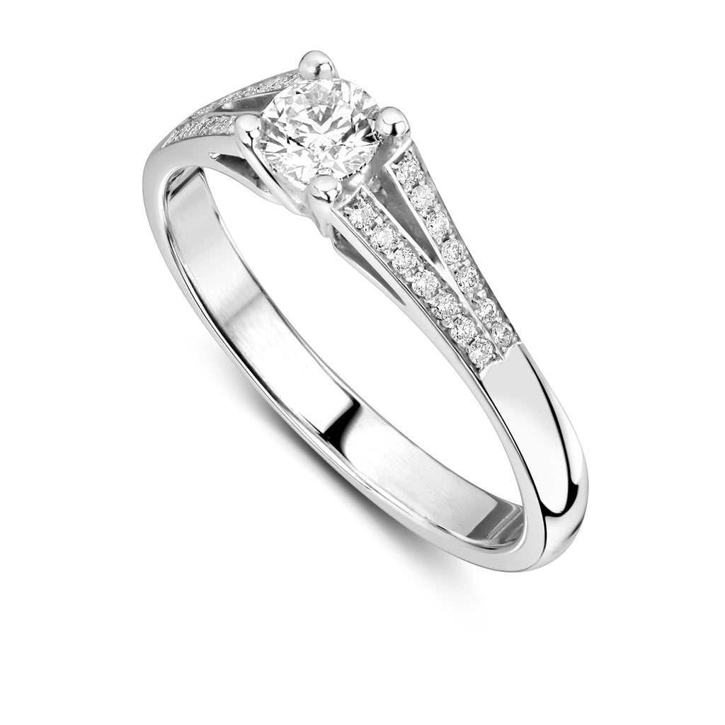 Patrice Split shank Engagement ring