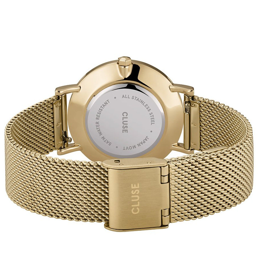Cluse CW0101203030 Minuit Mesh Gold Stone Green/Gold Watch
