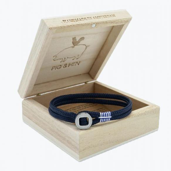 Pig and Hen Don Dino Navy/Silver Men's Bracelet