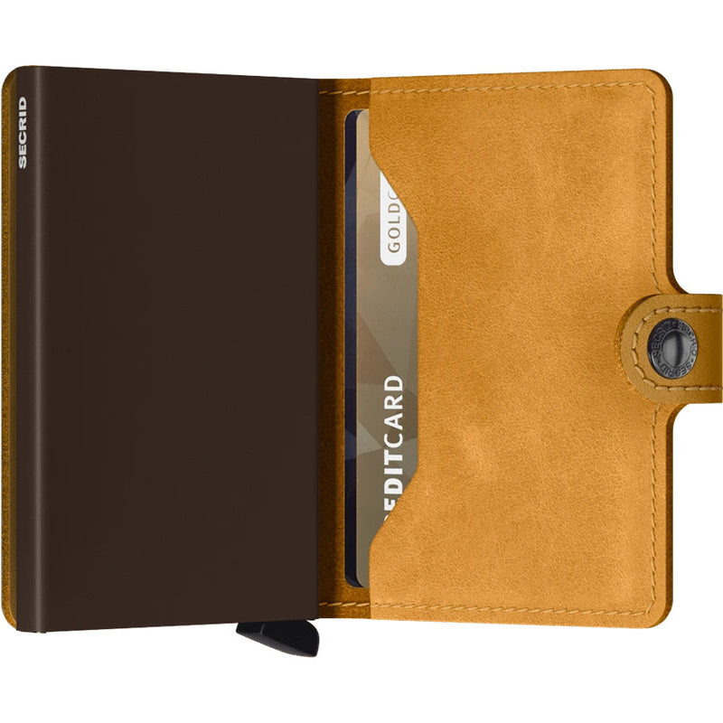 Secrid Vintage Ochre Mini Wallet