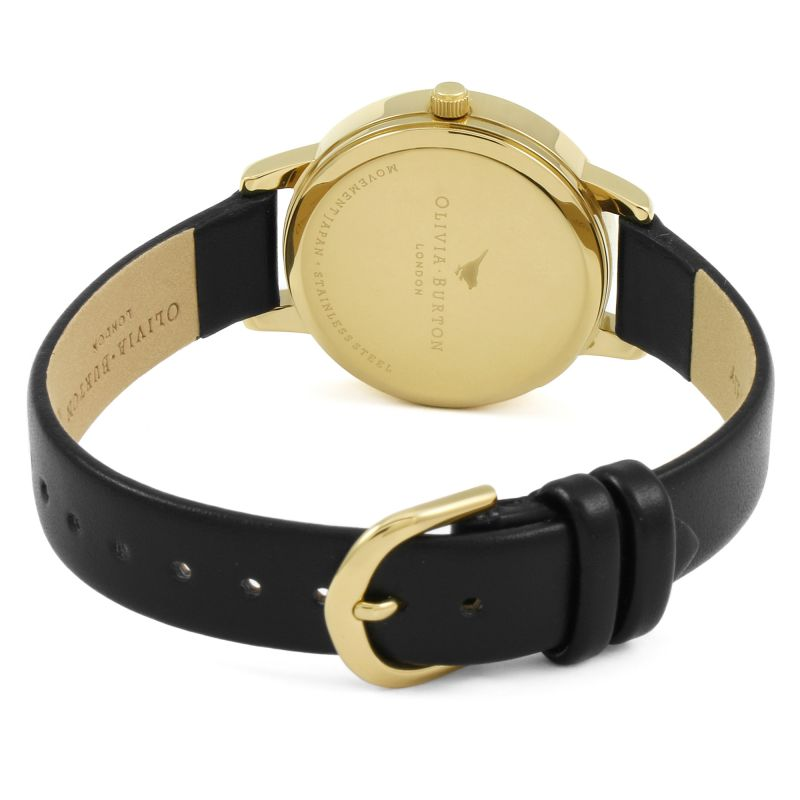 Olivia Burton OB15WL57 Vegan Friendly Bunny Gold & Black Watch