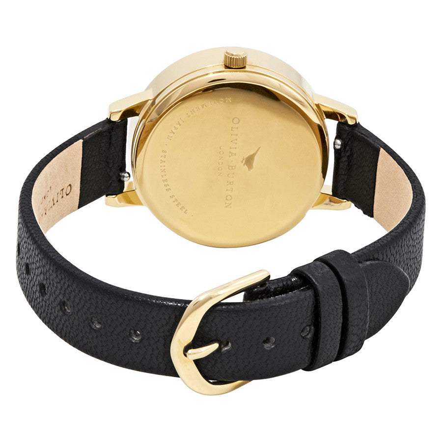 Olivia Burton OB16AM118 3D Bee Black Dial Ladies Watch