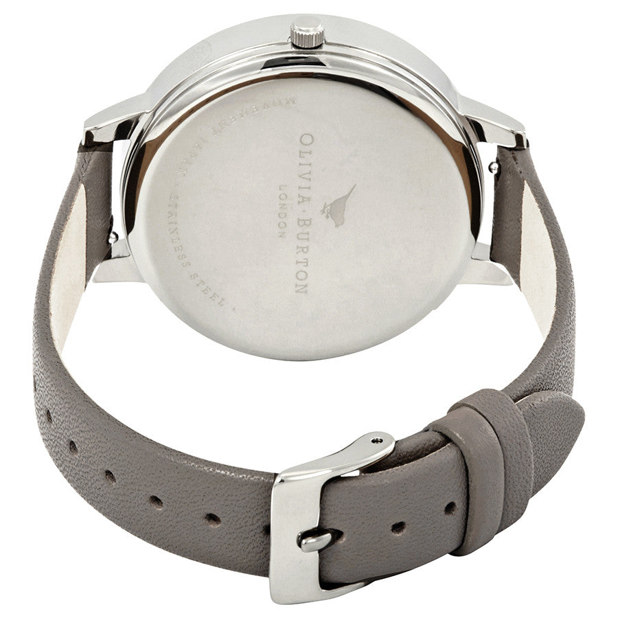 Olivia Burton OB16EM05 Embroidered Dial Grey Silver & London Grey Watch