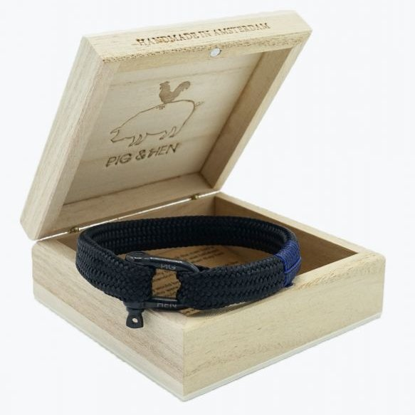 Pig And Hen Sharp Simon Black/Black Men's Bracelet