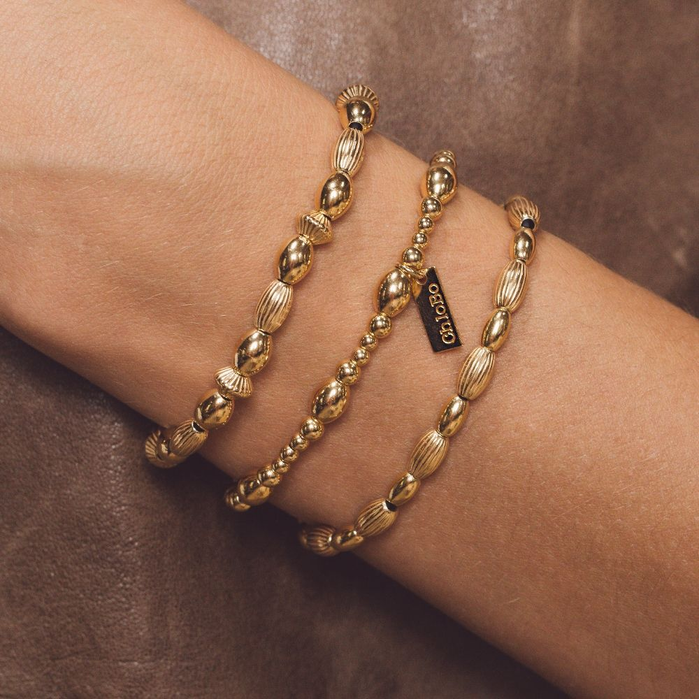Chlobo Double Rice bracelet gold
