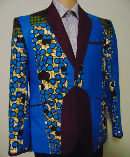 Mens Fashion Suit Blazer Formal Tops Luxury Jacket Dashiki Print Bar Coats