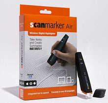 Load image into Gallery viewer, Scanmarker Air Pen Scanner Black - Scan text directly to your device using Text Recognition technology (OCR)