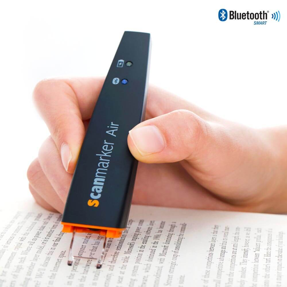 Scanmarker Air Pen Scanner Black - Scan text directly to your device using Text Recognition technology (OCR)