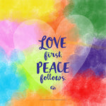 Poster_Love first, peace follows.