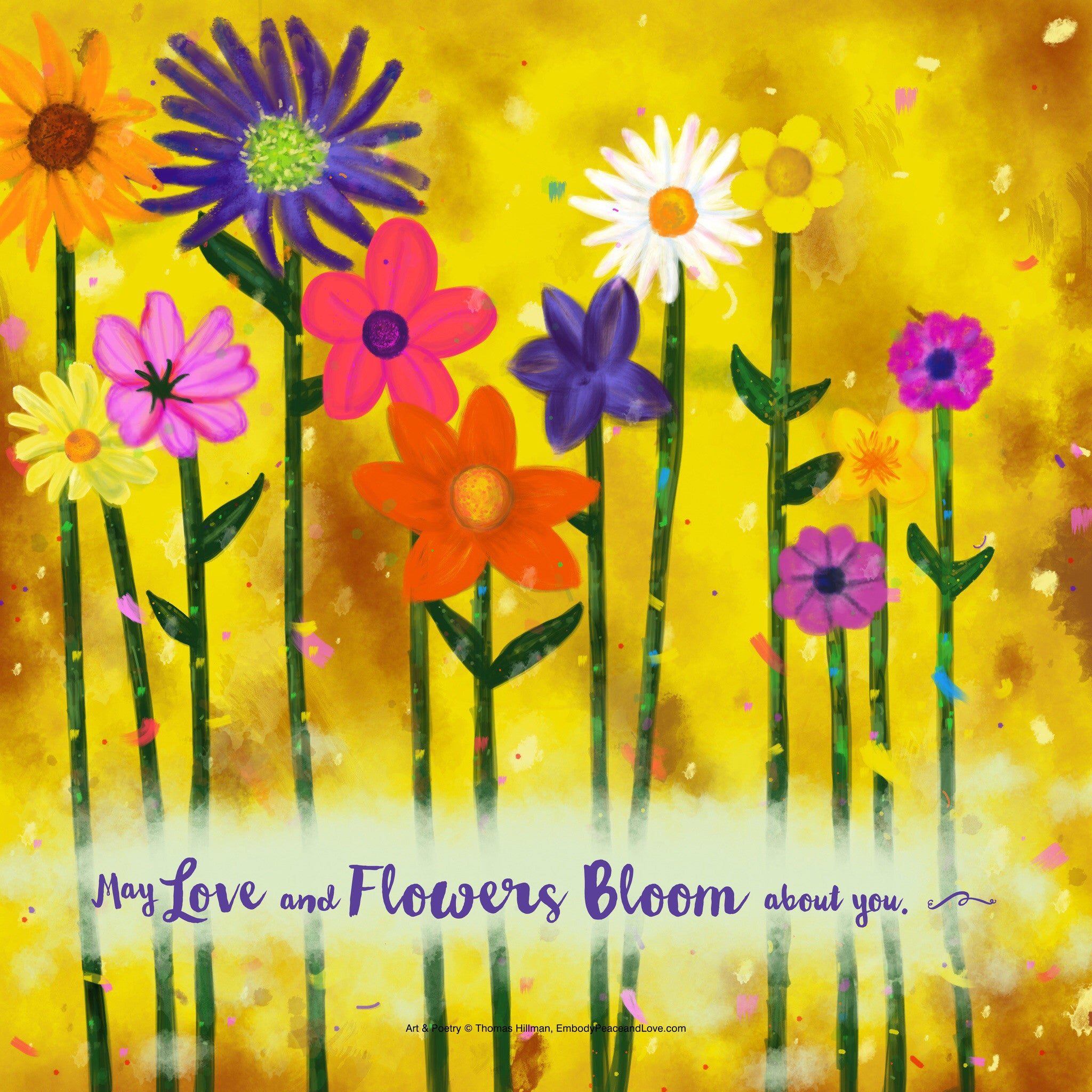 Poster_May love and flowers bloom about you.