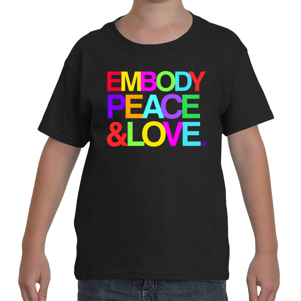 Youth Embody Peace and Love T-shirt, 100% cotton