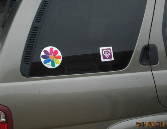 Rainbow Flower Power Sticker