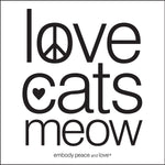 Love Cats Meow Sticker