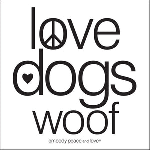 Love Dogs Woof Sticker