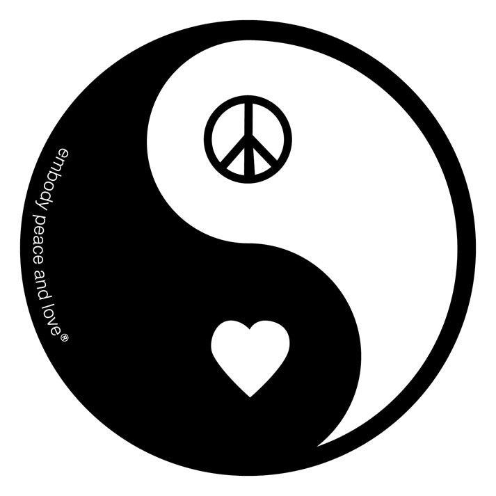 Bulk Pack of Yin Yang Peace and Love Stickers