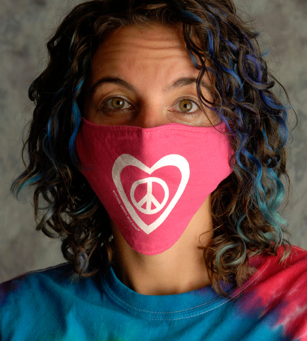 Face Mask ~ Peace & Love on colored masks. Buy any 2 Face Masks get $2.08 Off at checkout!