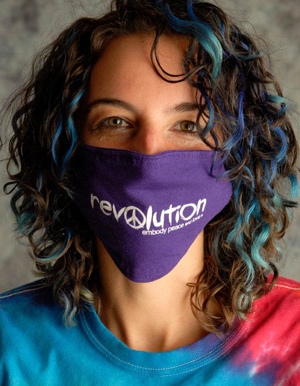 Face Mask ~ Revolution Peace on colored masks. Buy any 2 Face Masks get $2.08 Off at checkout!