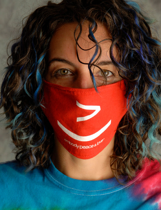 Face Mask ~ Smiley Face no.2 on colored masks. Buy any 2 Face Masks get $2.08 Off at checkout!