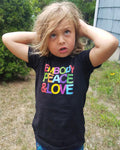 Toddler Embody Peace and Love Unisex T-shirt,  Organic Cotton, Made in the USA