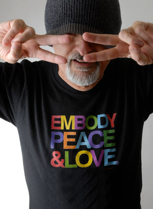 Men's Embody Peace and Love T-shirt no. 1